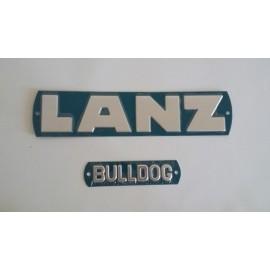 Anagrama tractor LANZ aluminio