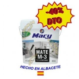 Pintura Plástica Mate M-3 Blanca Antimoho Macy