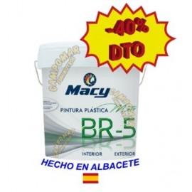 Pintura Plástica Mate BR-5 Antimoho Blanca Macy 4 L