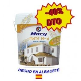 Pintura Plástica Mate M-4 Antimoho Blanca Macy