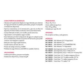 """Codo Giratorio VYR-81 3/4"""" Hembra. Salida Manguera 20 MM Vyrsa"""