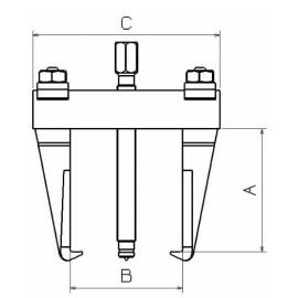 Extractor Mecánico 1020 Forza 2 Patas 260 X 250