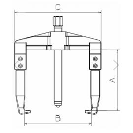 Extractor Mecánico 2425 Forza 2 Patas 155 X 190