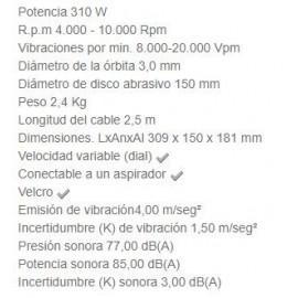 Lijadora Excéntrica BO6030 150 MM 310W Makita