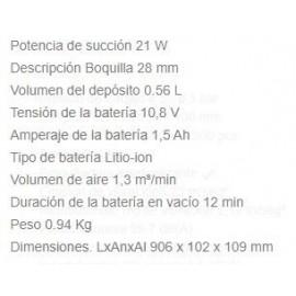 Aspirador CL111DWR 10.8V Rojo Makita