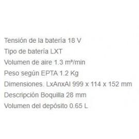 Aspirador DCL180ZB 18V S/Bat Makita