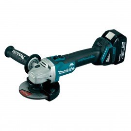Amoladora 125MM DGA504RMJ Bat 18V +2Bat Makita