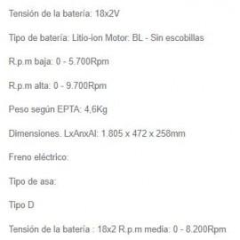 Motor Multifunción DUX60Z 18V S/Bat MAKITA