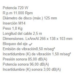 Miniamoladora GA5030R 125 MM 720W MAKITA