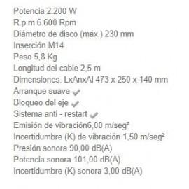 Amoladora GA9020RKD 230MM 2200W Makita