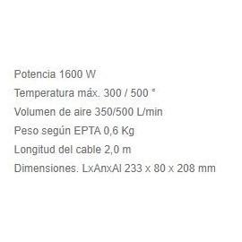 Decapador HG5012K 1600W Makita