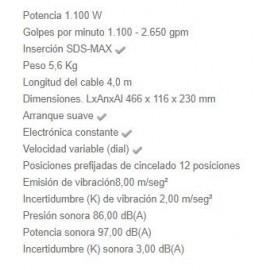 Martillo Demoledor HM0871C 5,6KG 1100 W Makita