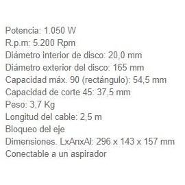 Sierra Circular HS6601 165 MM 1050W Makita