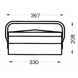 Caja Herramientas Metal Heco 102.3