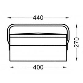 Caja Herramientas Metal Heco 102.5.1