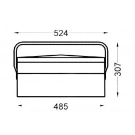 Caja Herramientas Metal Heco 102.7