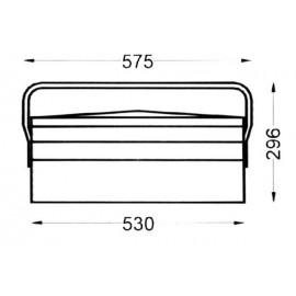 Caja Herramientas Metal Heco 108.7