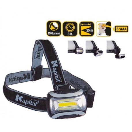 Linterna Frontal LED Multimodo 120 Lumens Kapital