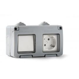 Interruptor + Base Enchufe Estanco 16A IP55 Famatel