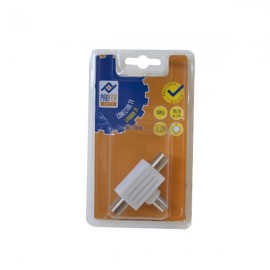 Conector TV Triple 1M 2H Blanco PH0349 Profer