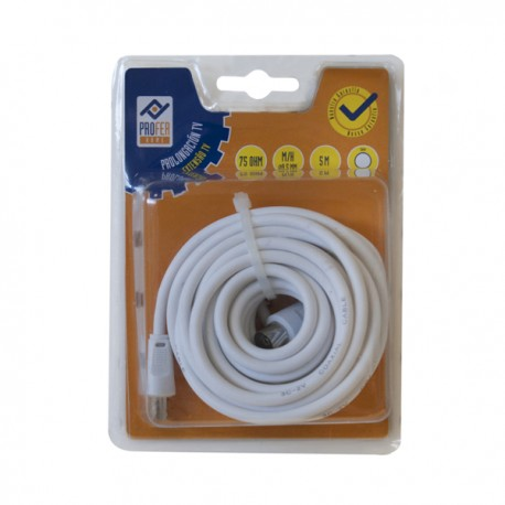Prolongador TV M-H 5M Blanco PH0354 Profer