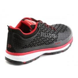 Zapato Deportivo S3 Negro-Rojo 72223 CELL Bellota