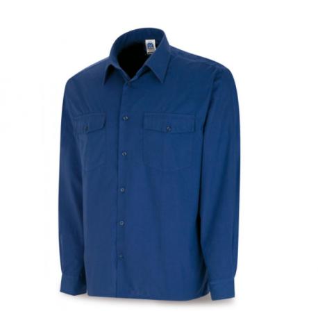 Camisa Algodón Manga Larga Azulina 388-CXML Marca