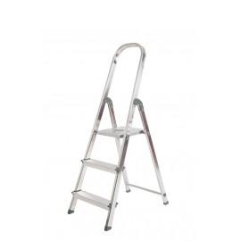 Escalera Aluminio Unica 3 Peldaños UNI001 Rolser
