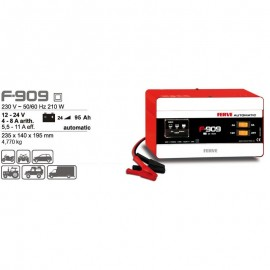 Cargador Batería Automático 25-95 AH 12-24 V F909 Ferve