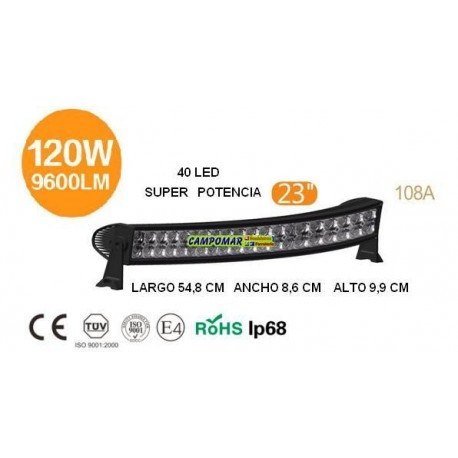 FARO BARRA AgroleD 40 LED 120W 9600LM 108A