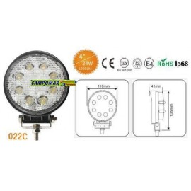 FARO DE TRABAJO AgroleD 8 LED 1920 LM 24W 022C