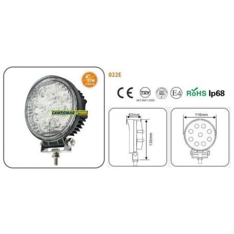 FARO DE TRABAJO AgroleD 9 LED 2160 LM 27W 022E